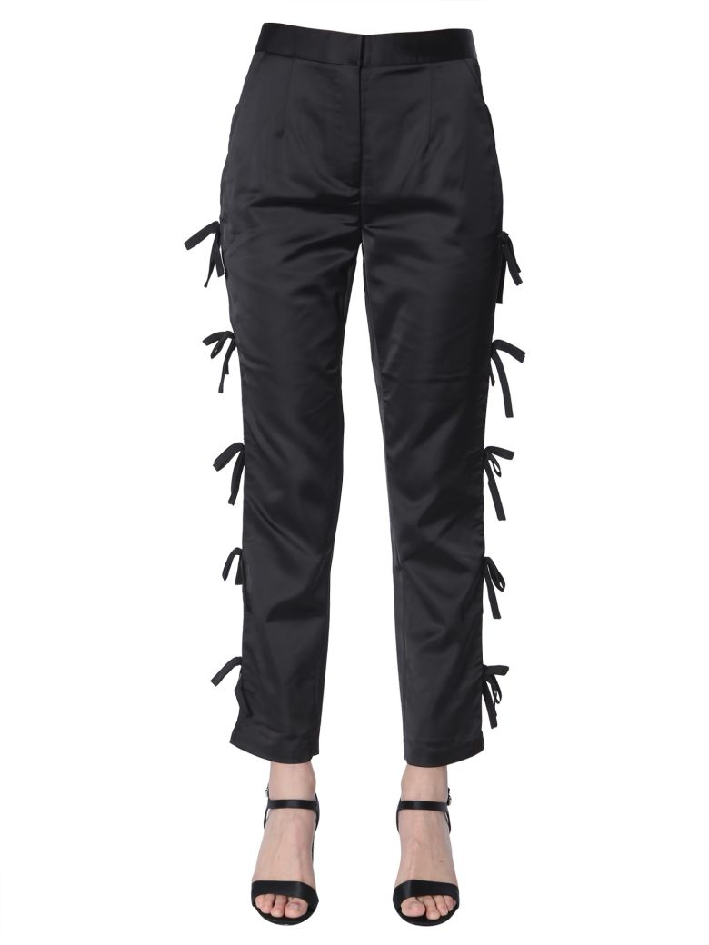 self-portrait Trousers With Bows - NERO