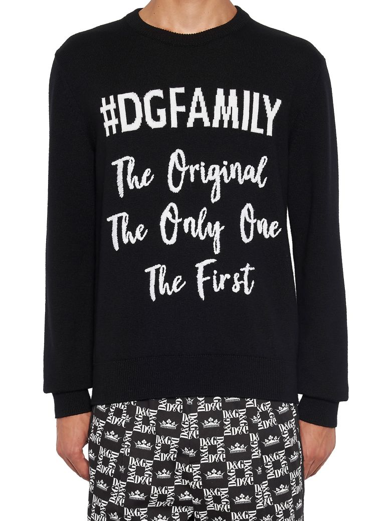 Dolce & Gabbana 'dg Family' Sweater - Black