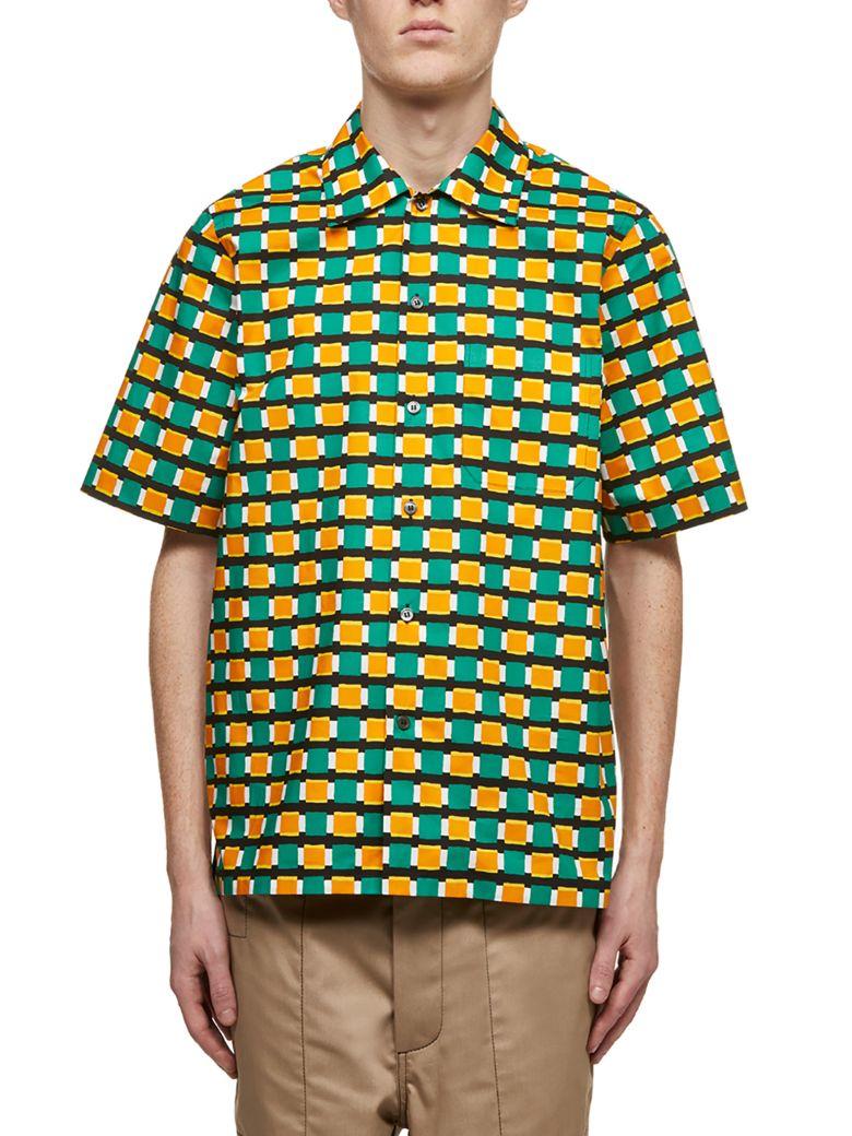Marni Checked Print Shirt - Verde multicolor