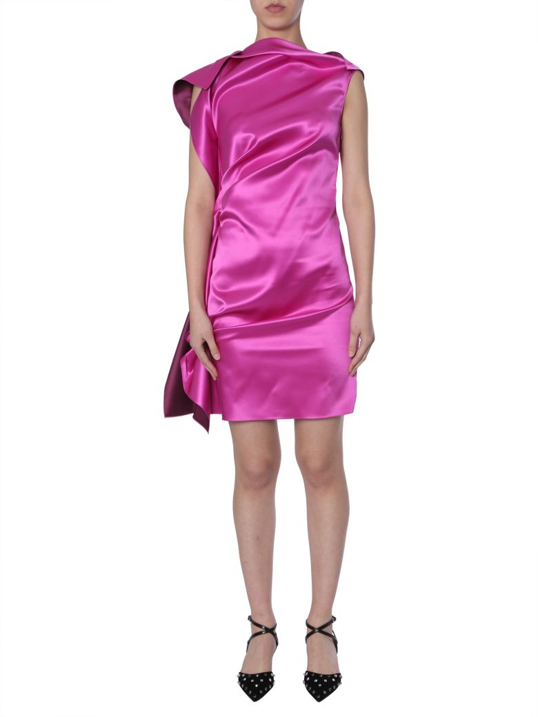 Lanvin Silk Dress - FUCSIA