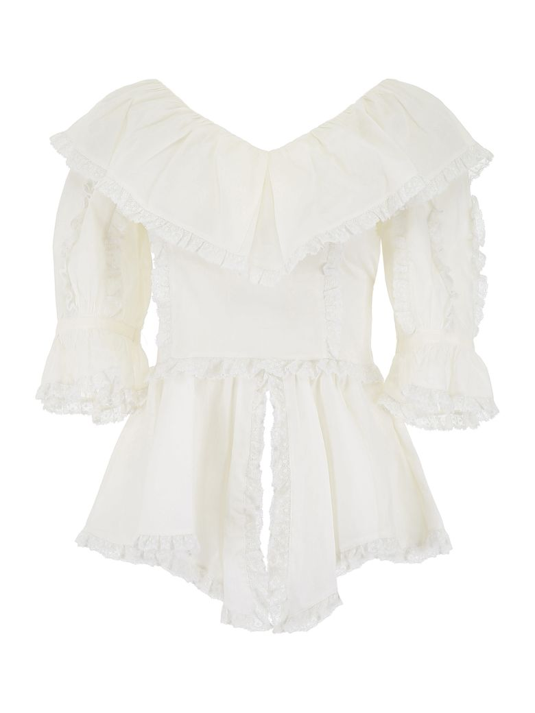 See by Chloé Ruffled Top - ICONIC MILK (White)