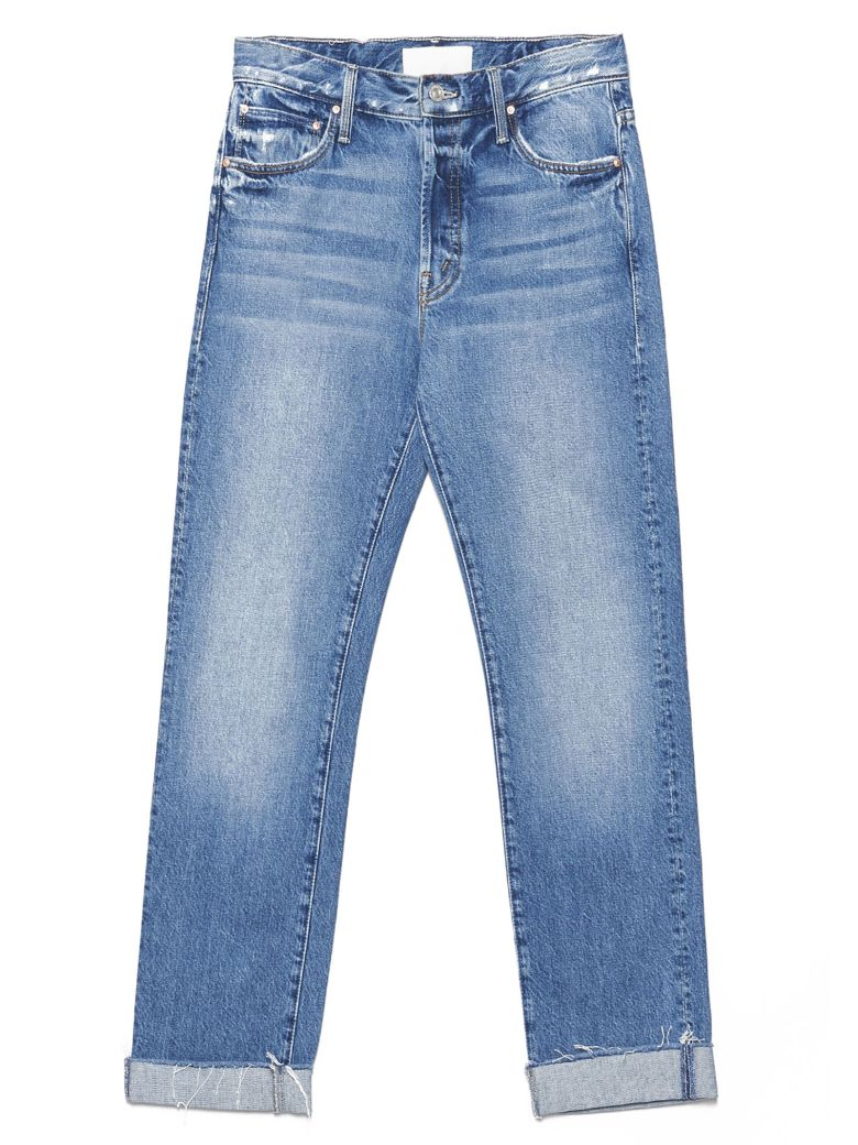 Mother 'the Scrapper Cuff' Jeans - Blue