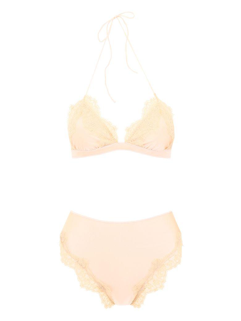 Oseree Travaillé Bikini With Lace - NUDE (Beige)