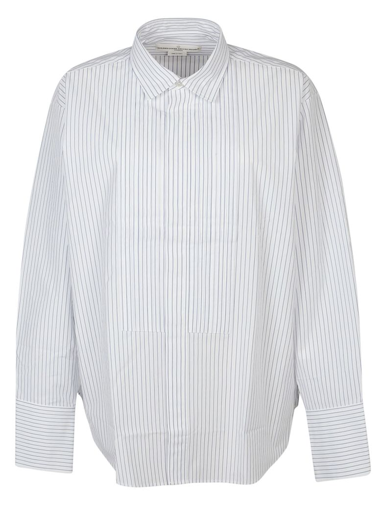 Golden Goose Jessica Shirt - White/blue stripes