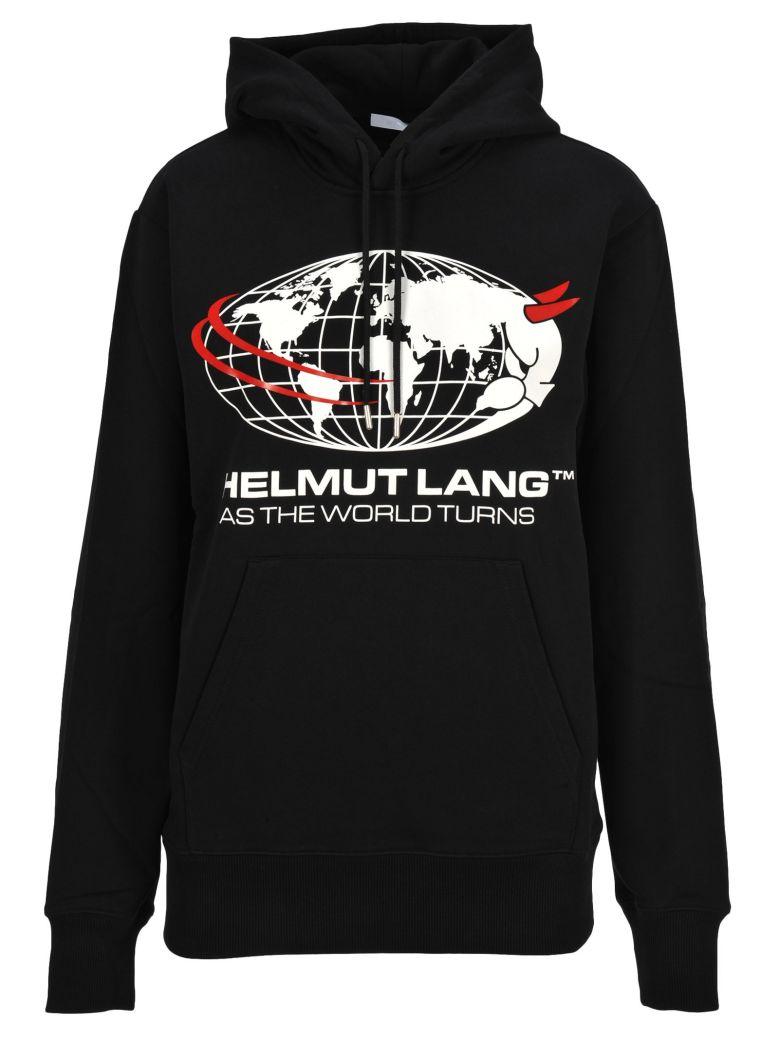 Helmut Lang Hooded Fleece Print - Black