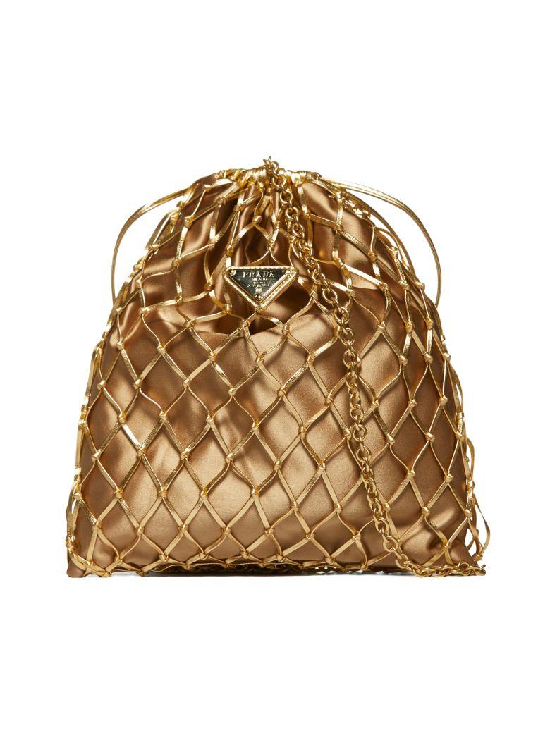 Prada Logo Bucket Bag - Oro
