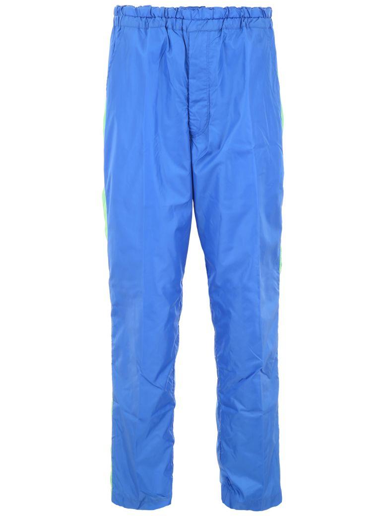 Comme des Garçons Shirt Boy Joggers With Side Bands - BLUE GREEN (Blue)