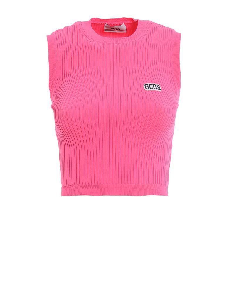 GCDS Ribbed Top - Pink