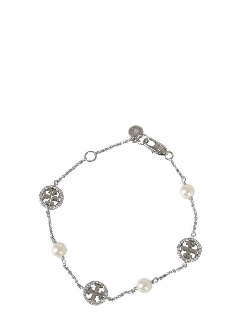 Tory Burch Crystal Pearl Bracelet - ARGENTO