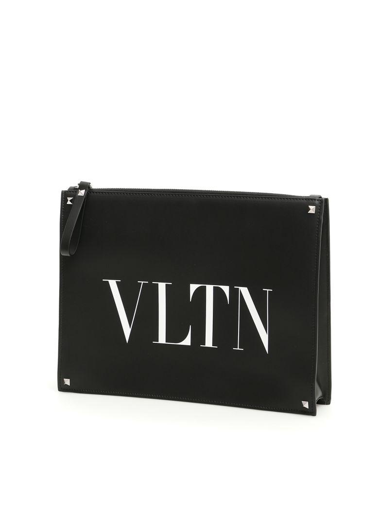 Valentino Vltn Clutch - NERO BIANCO|Nero