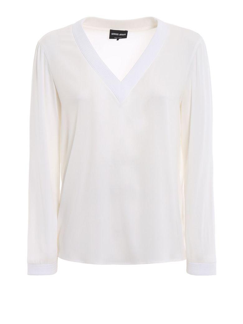 Giorgio Armani V-neck Blouse - U0bn White