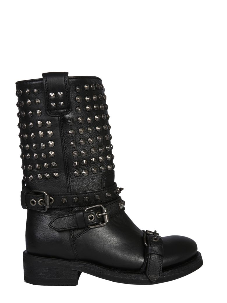 Ash Camperos Alto Troop Boots - NERO