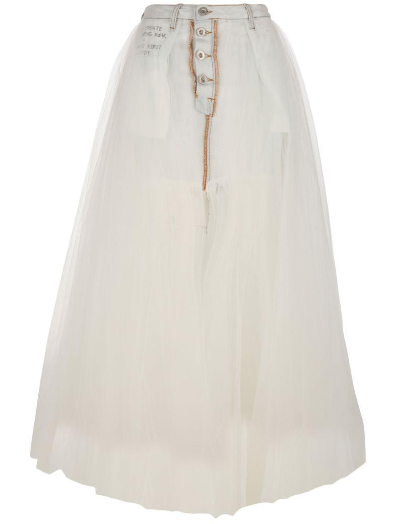Ben Taverniti Unravel Project Skirt - Bianco