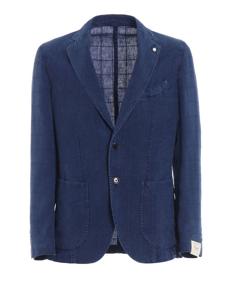 Luigi Bianchi Mantova Overcheck Blazer - Blue