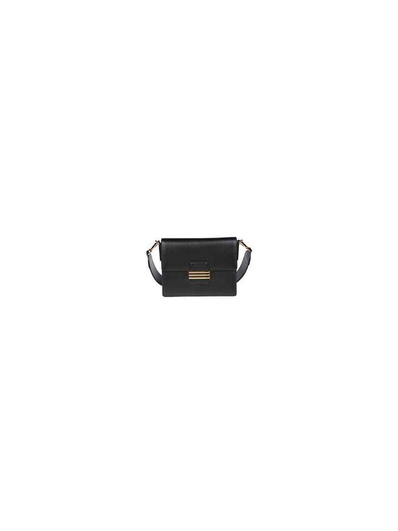 Etro Embroidered Strap Shoulder Bag - Black