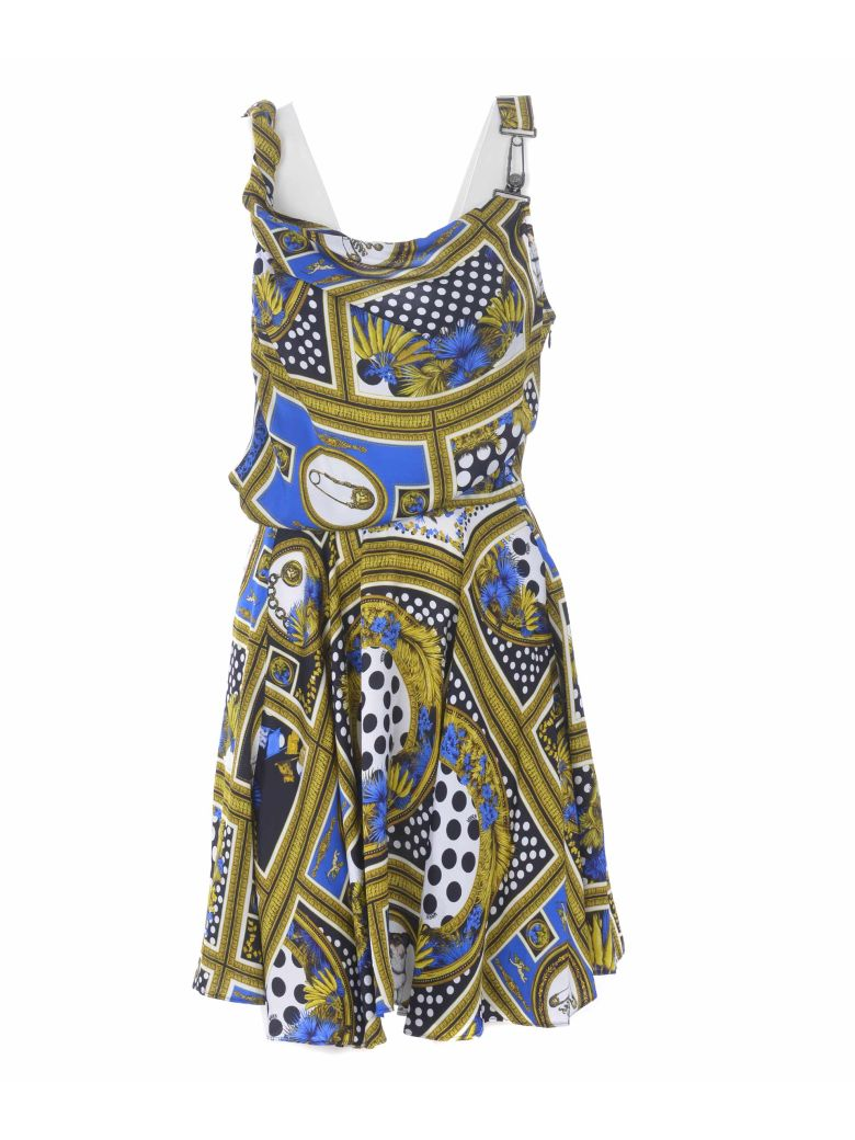 Versus Versace Printed One Shoulder Mini Dress - Multicolor