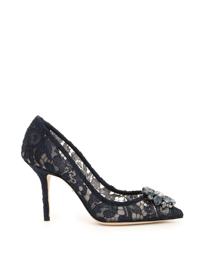 Dolce & Gabbana Lace Bellucci Pumps - BLU NOTTE