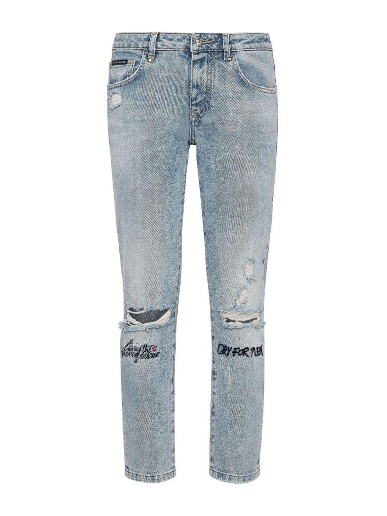 Philipp Plein S19c Wtk1257 Pjy002n 17 California Cotton Jeans - Basic