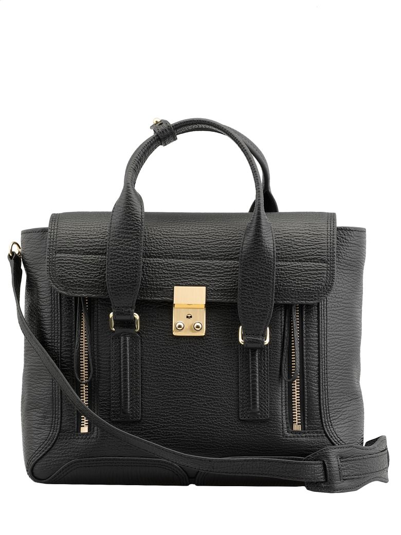 3.1 Phillip Lim Pashli Medium Satchel - BLK