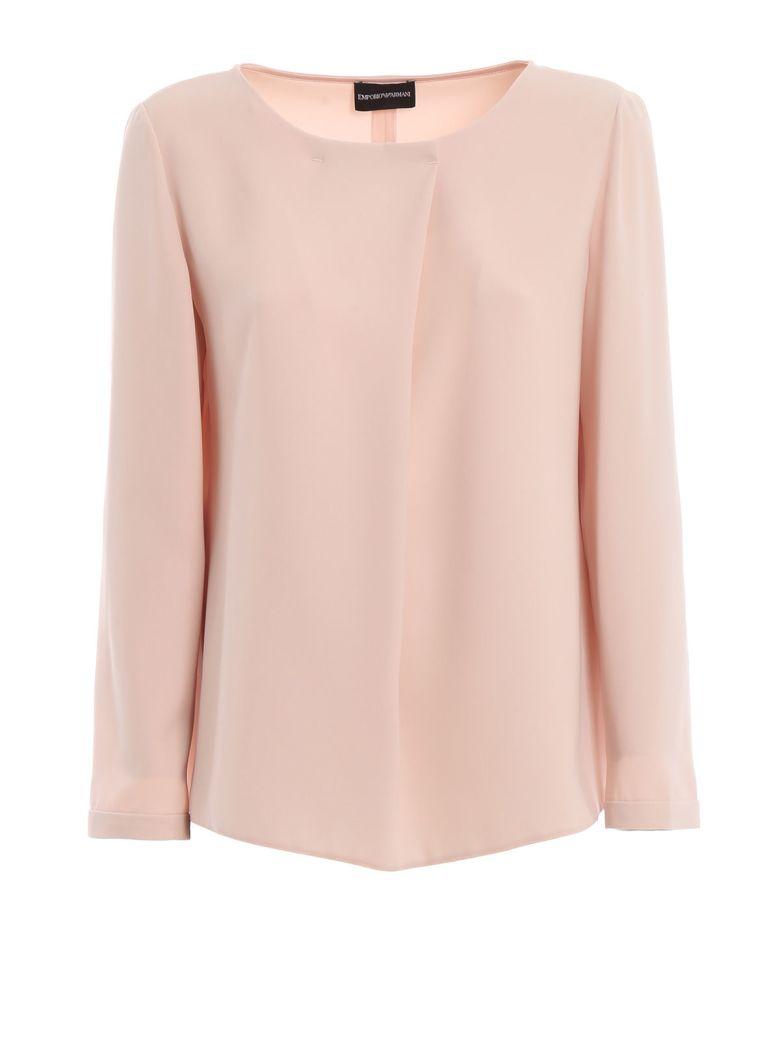 Emporio Armani Cady Long Sleeved Blouse - Rosa