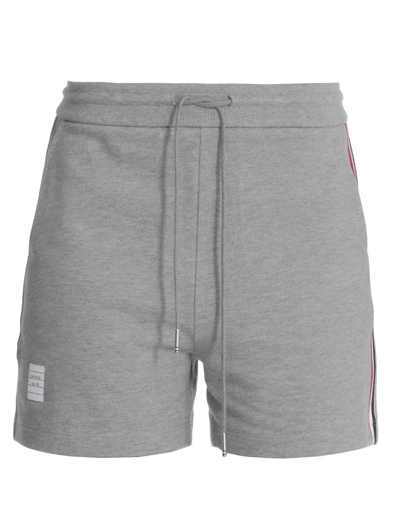 Thom Browne Cotton Shorts - Light grey
