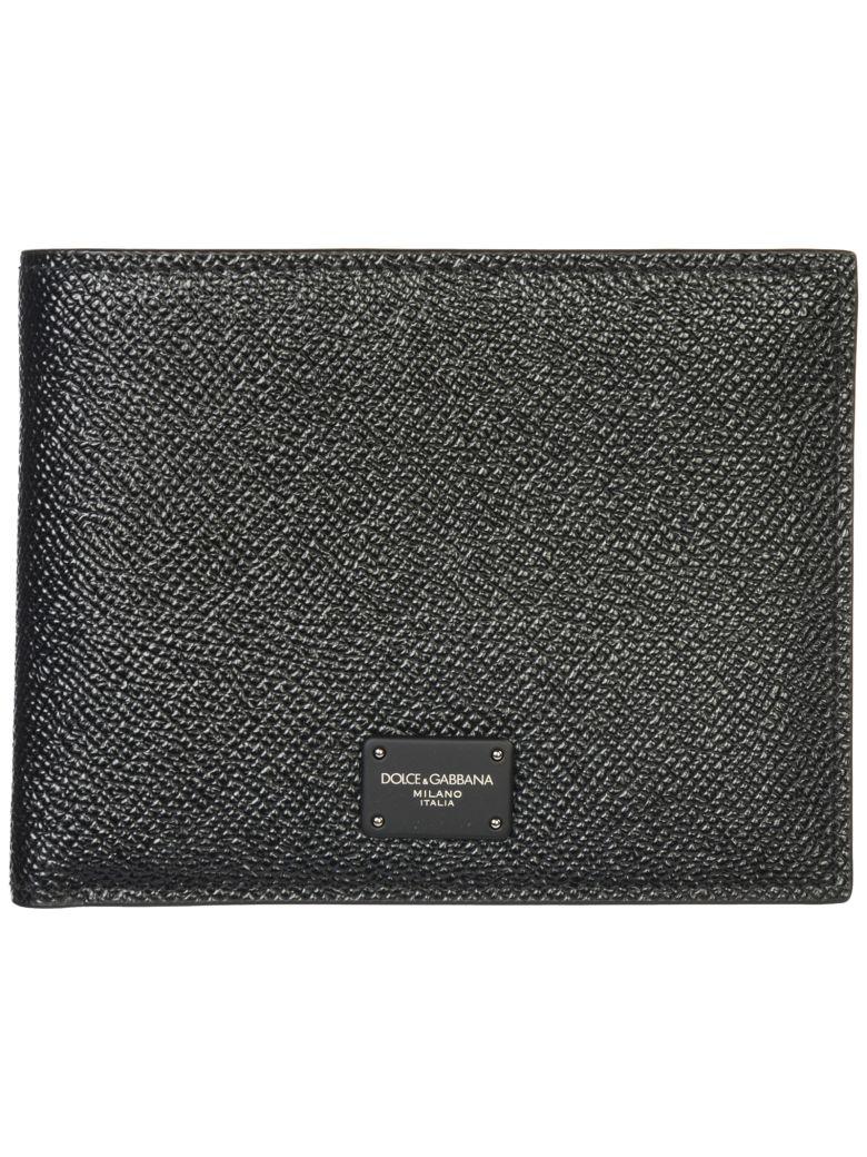 Dolce & Gabbana  Genuine Leather Wallet Credit Card Bifold - Black