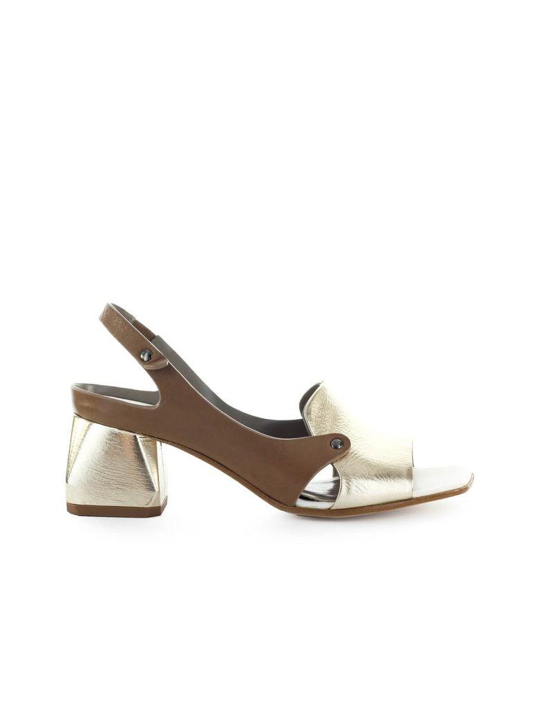 IXOS Gold Dove-grey Heeled Sandal - Oro / Tortora / Latte (Multicolor)
