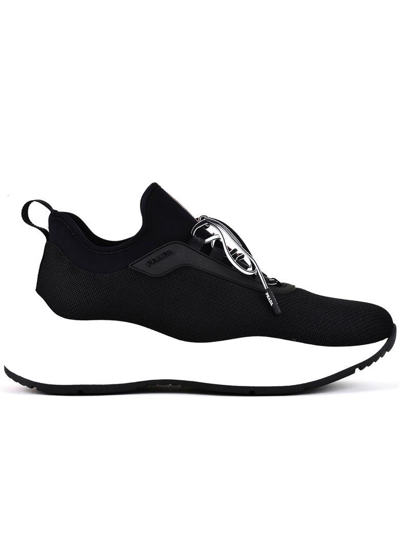 Prada Linea Rossa Prada Sneakers With Mesh Panels - Black
