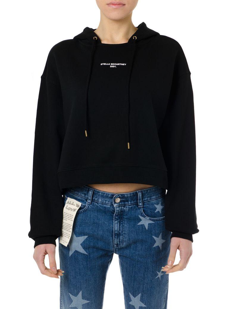 Stella McCartney Black Cotton Hoodie Logo Sweatshirt - Black