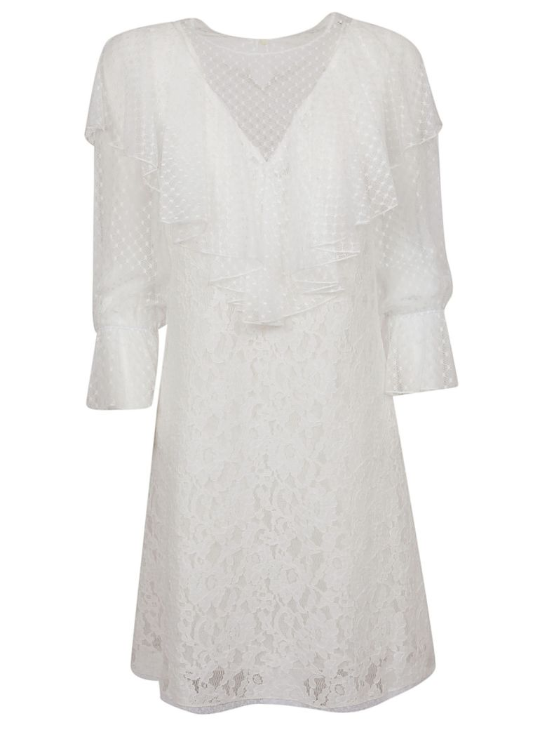 See by Chloé Ruffle Sleeve Dress - .white