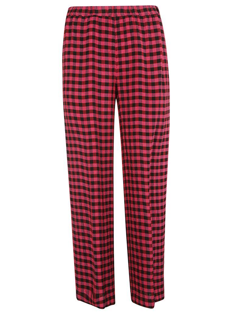 Aspesi Plaid Printed Trousers - Fucsia