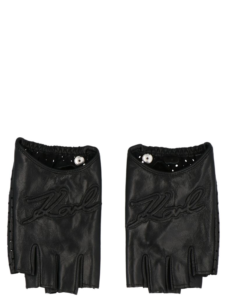 Karl Lagerfeld 'i/konic Signature' Glove - Black