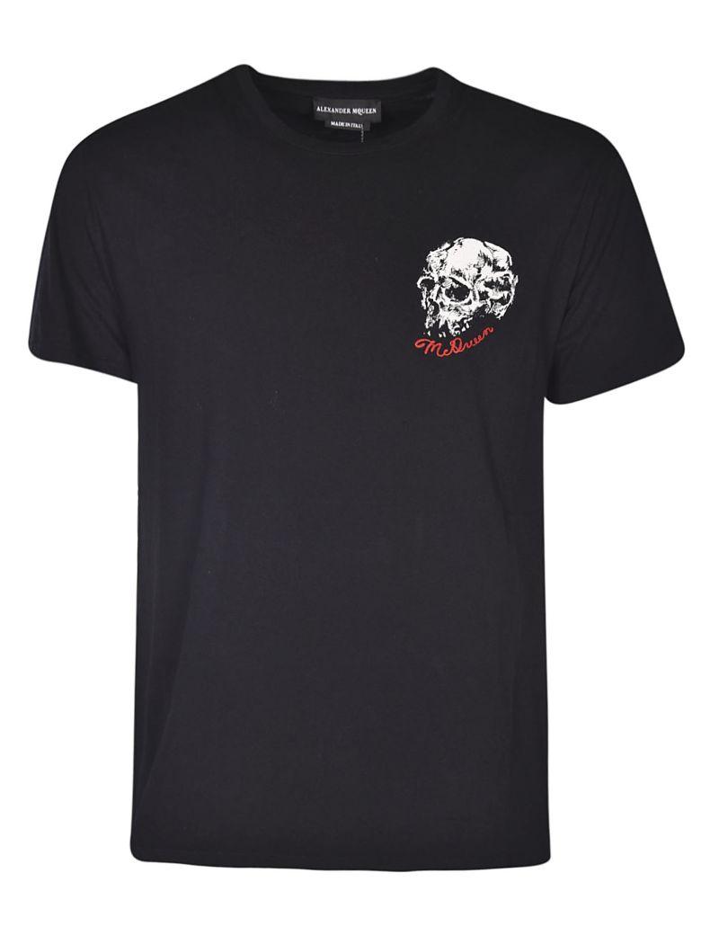 Alexander McQueen Skull Embroidered T-shirt