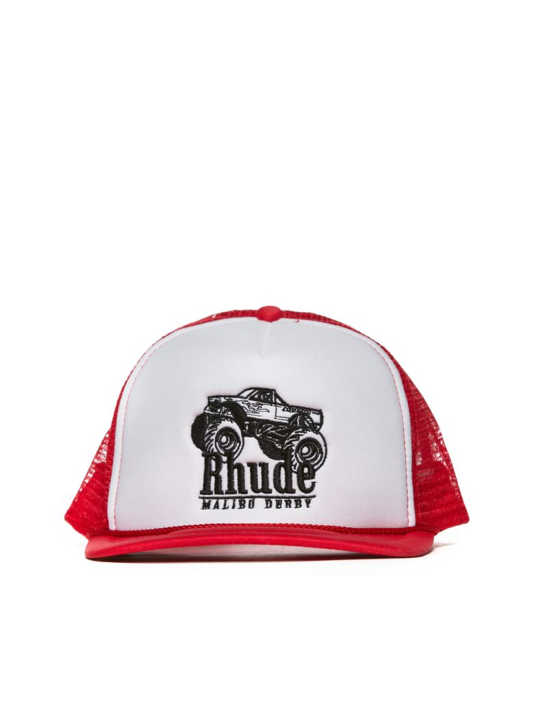 Rhude Embroidered Logo Cap - Red