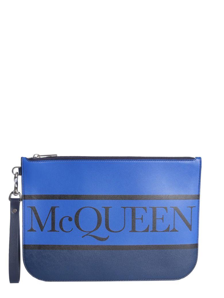 Alexander McQueen Logo Pouch - BLU