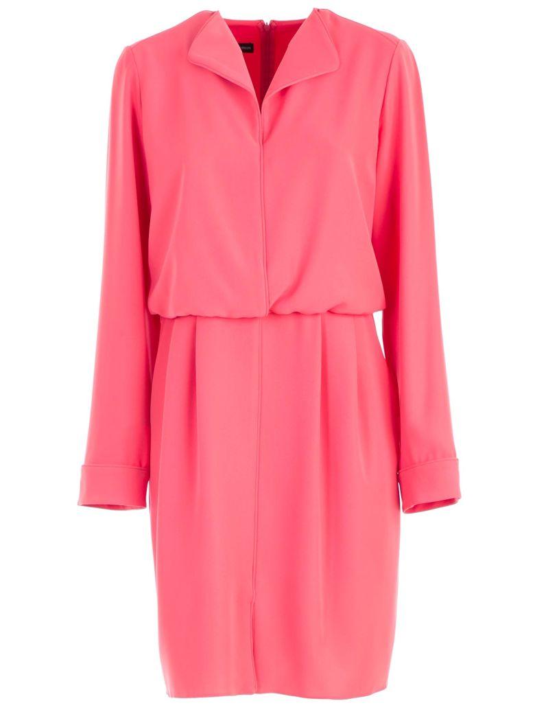 Emporio Armani Pipe Trimmed Dress - Arancione