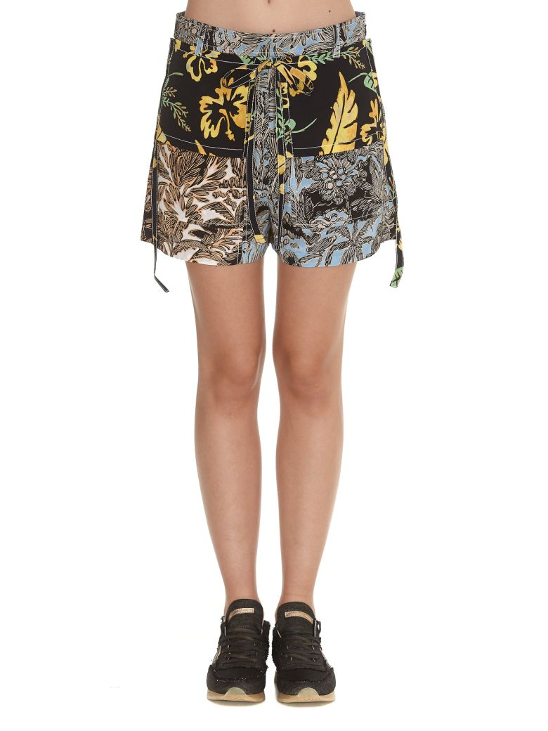 3.1 Phillip Lim Patchwork Shorts - Multicolor
