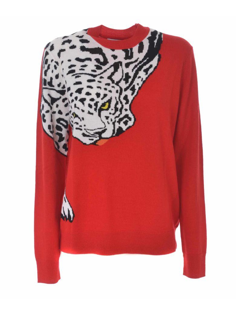 Krizia Intarsia Tiger Sweater - Rosso