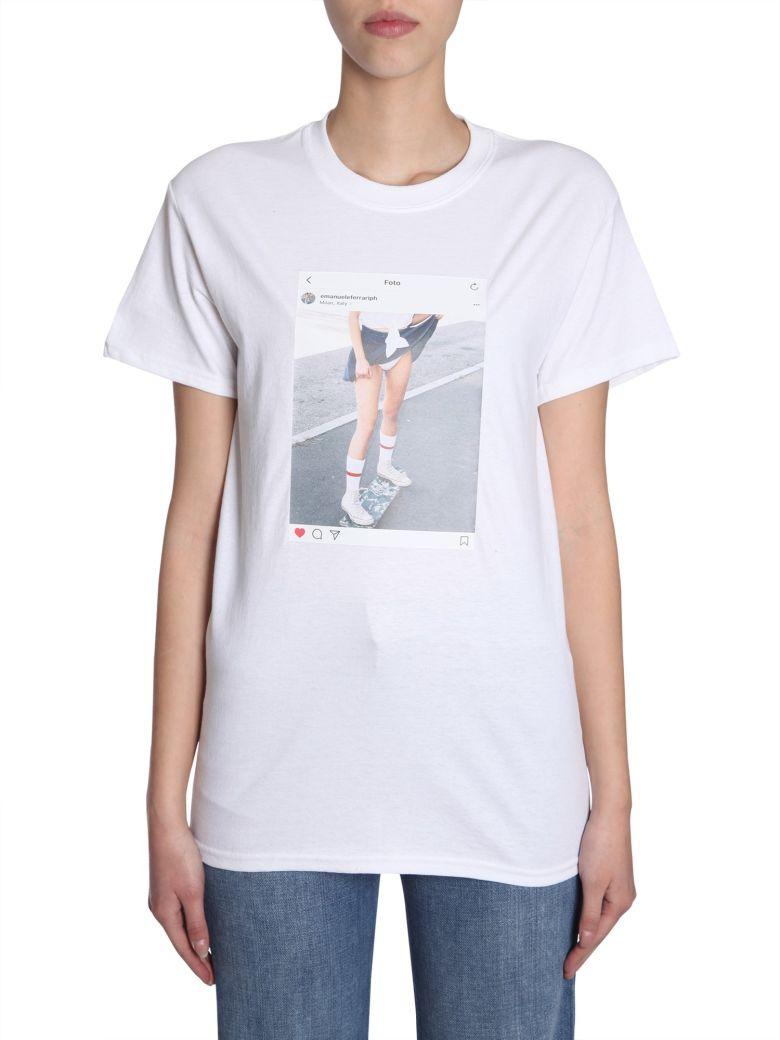EMANUELEFERRARISTUDIO Instagram Picture T-shirt - BIANCO