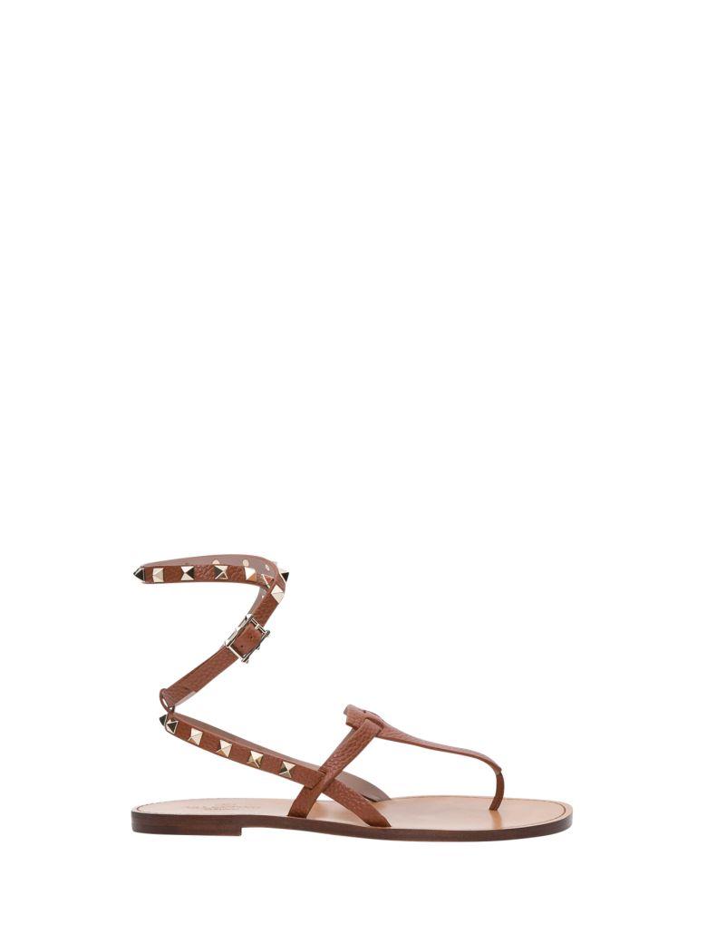Valentino Garavani Rockstud Sandals - Brown