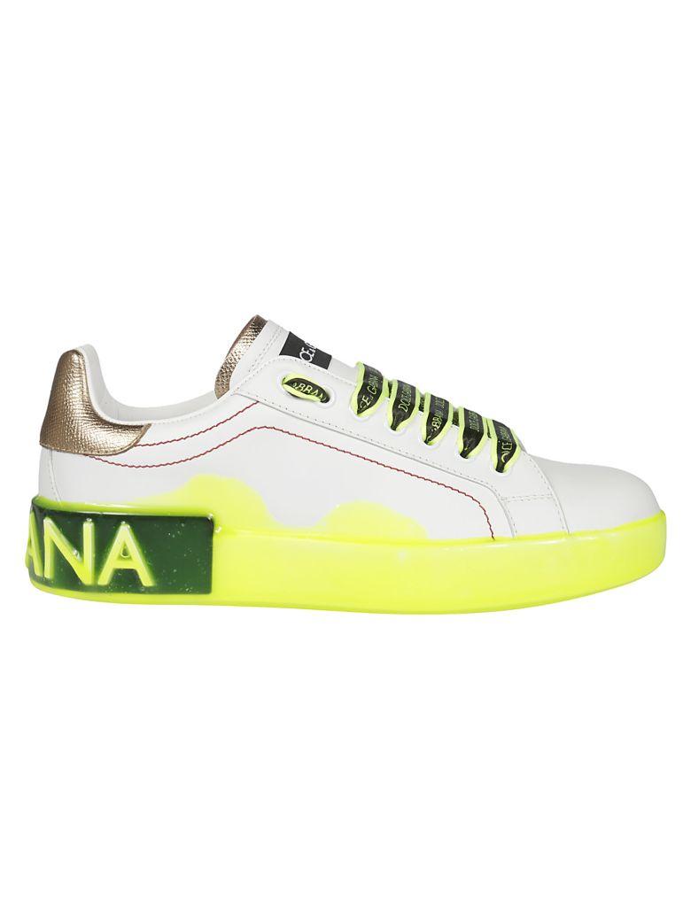 Dolce & Gabbana Plain Toe Low-top Sneakers - white