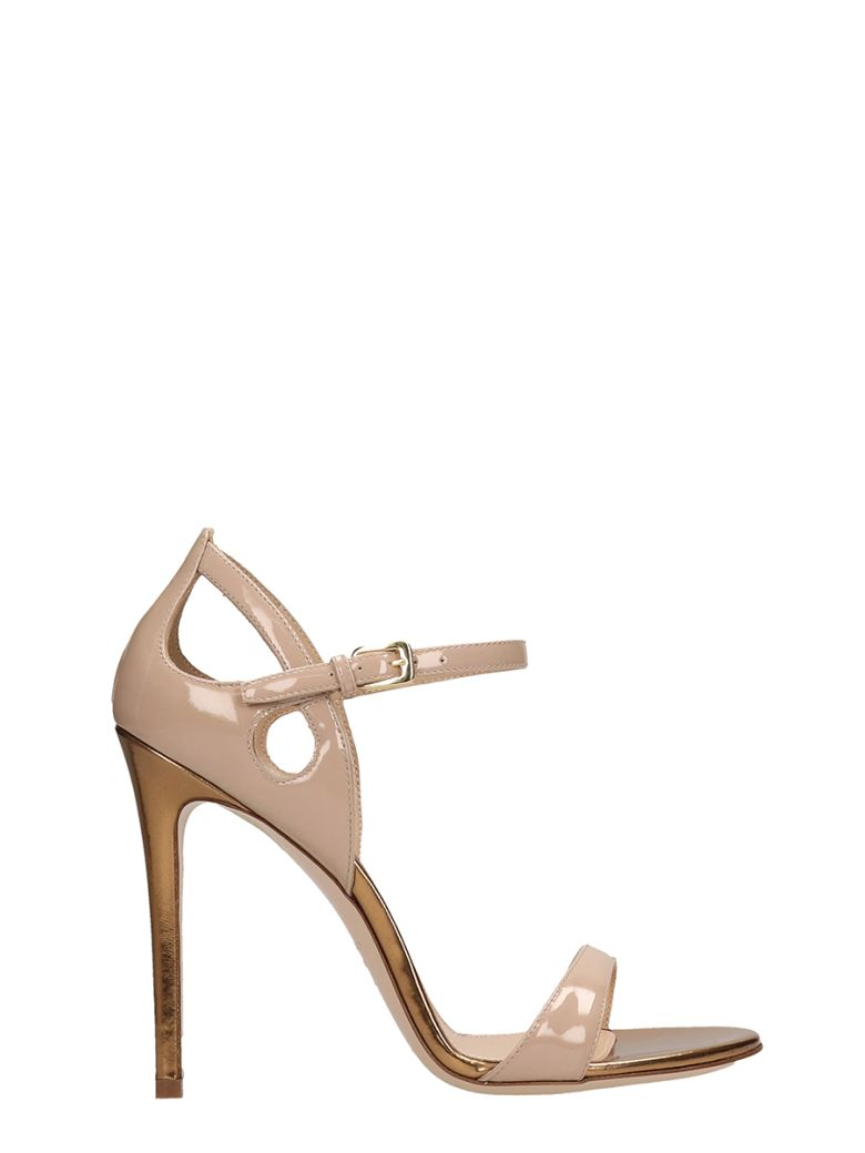 Dei Mille Nude Patent Leather Sandals - powder