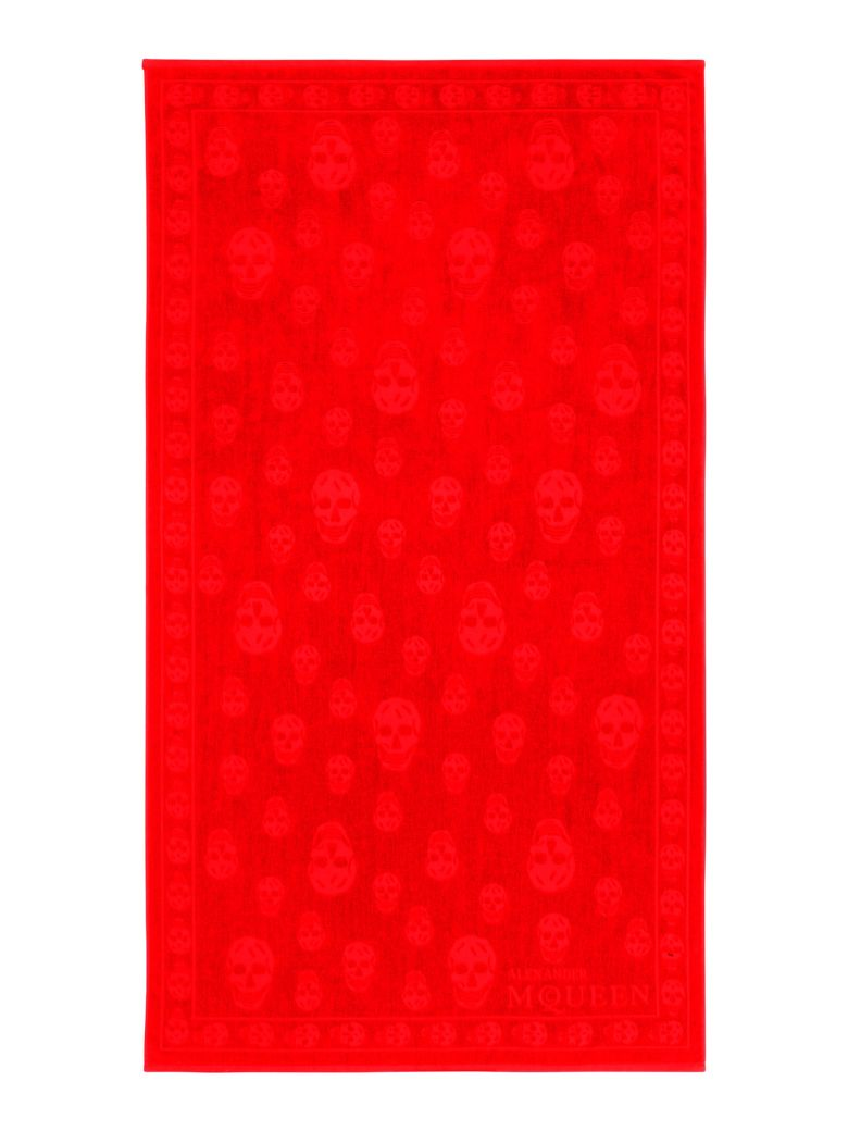 Alexander McQueen Skull Beach Towel - RED (Red)