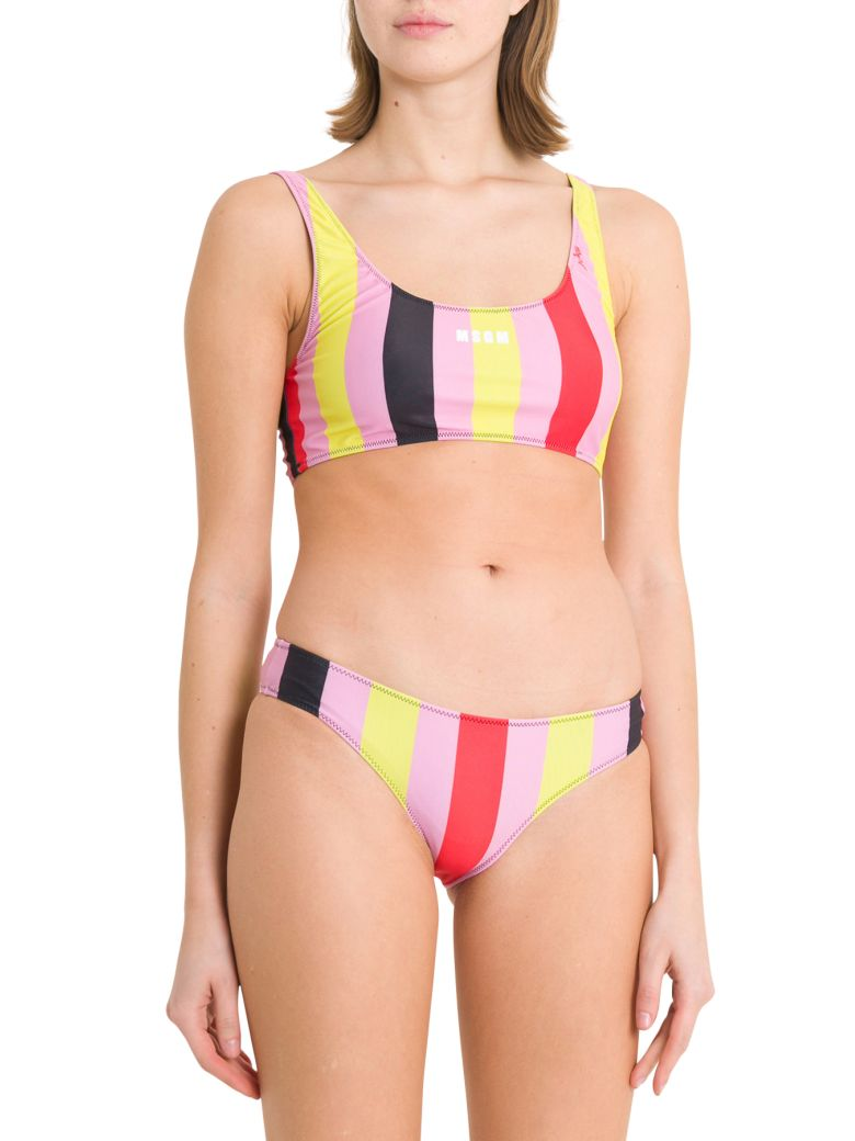 MSGM Multicolur Stripes Bikini - Multicolor