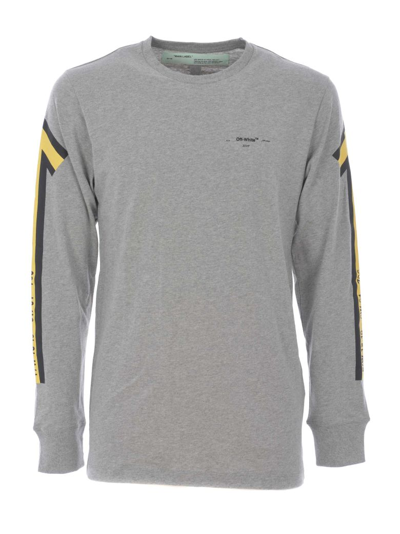 91fc397b5f04 Off-White Marker Arrow Print Sweatshirt In Grigio Melange