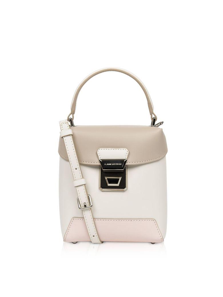 Lancaster Paris Claudia Mini Box Bag - Ecru/Rose