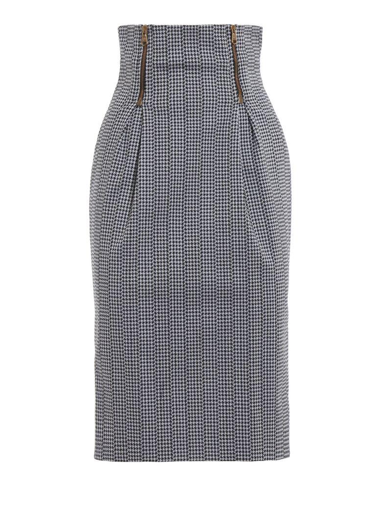 Versace High Rise Pencil Skirt - Nero