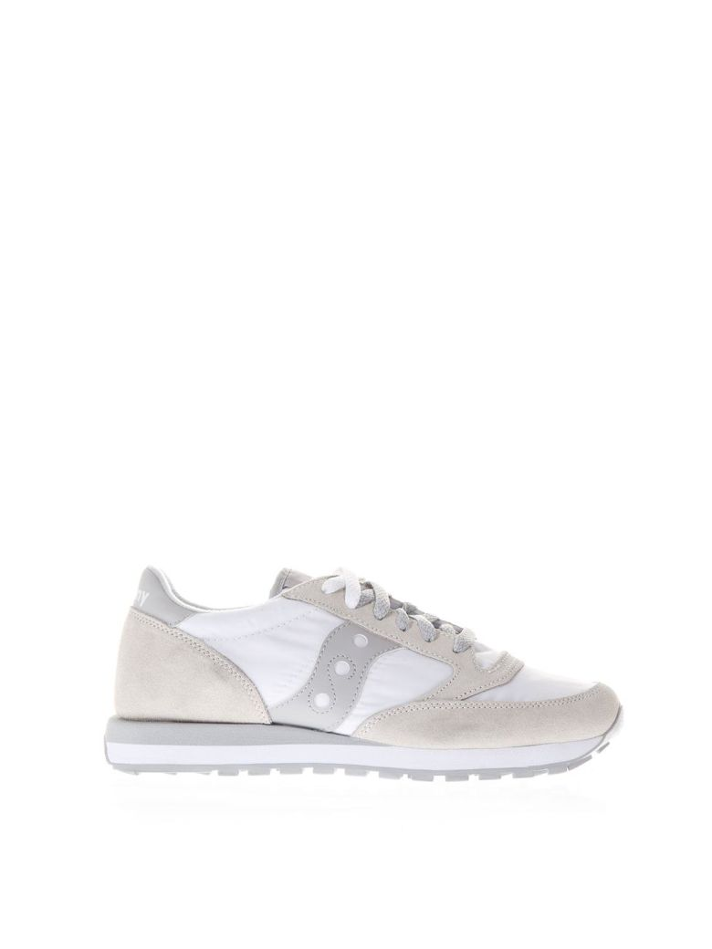 Saucony WHITE/IVORY SUEDE ORIGINALS JAZZ SNEAKERS