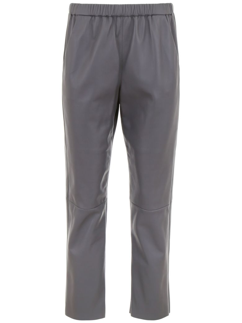 DROMe Leather Trousers - LEAD (Grey)