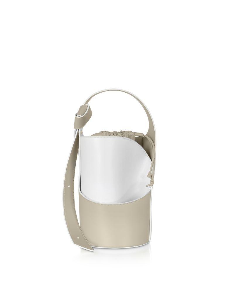 Giaquinto Lily Mini Egret White Bucket Bag - White